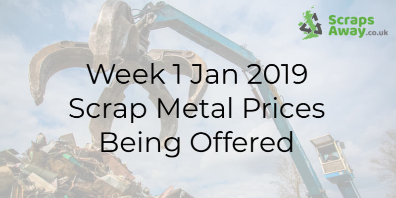 First Week of 2019 Scrap Prices
